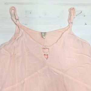 Roxy pink lined slip dress sz S